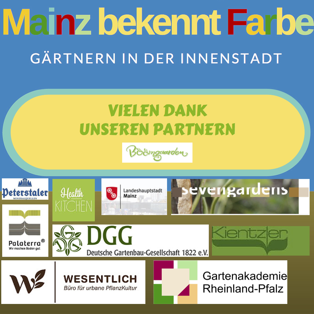 - DANKE -Mainz bekennt Farbe - Urban-Gardening-Projekt