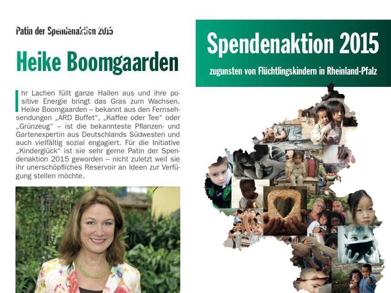 Heike Boomgaarden, Patin der Spendenaktion der Lotto Lotto-Stiftung Rheinland-Pfalz