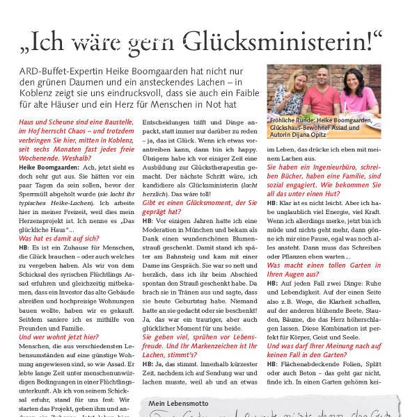 Heike persönlich in ihrem Glückshaus Koblenz